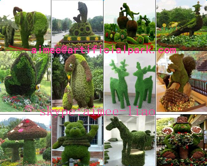 How To Make Topiary Animals Part - 27: Q121015 Wire Topiary Frames Animal Large Outdoor Artificial Animal Topiary