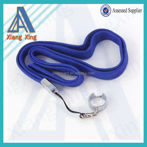 Royal blue flat tube lanyard with ego ring for electronic cigarette