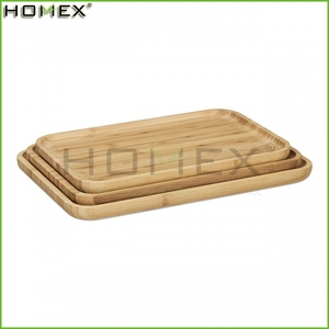 Bamboo Food Tray Set/Bamboo Breakfast Serving Tray/Homex_FSC/BSCI Factory