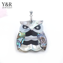 christmas gifts 2017 abalone shell necklace pendant owl shaped shell pendant