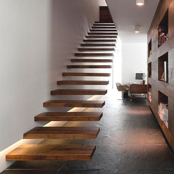 Wood Box Tread Stairs Cantilevered Staircase