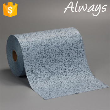 Small roll Blue meltblown Polypropylene nonwoven fabric cleaning Wiper