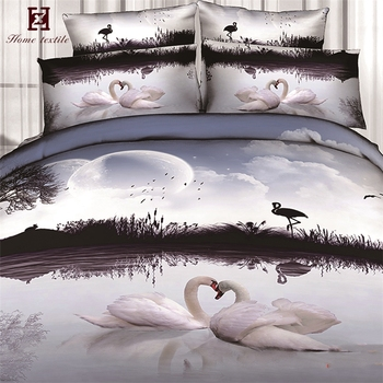 Luxury Four Poster Egyptian Cotton King Size Bed Sheet 5d Duvet Cover Sets Bedding Set