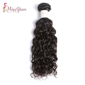Unprocessed 10A Brazilian Virgin Hair natural Wave Remy Human Bundles Weaves 100% Unprocessed Natural Color 12 14 16Inch