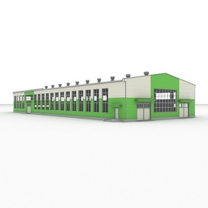 Prefabricate Metal Construction Building Workshop For Sale