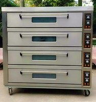 Industrial gas oven 4 Deck 12 Trays for bread and cakes