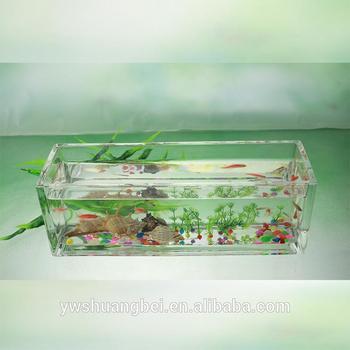 Hecho a mano grande pecera de cristal rectangular for Rectangle fish tank
