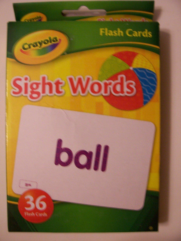 Crayola Educational Flash Cards ~ Sight Words (36 Flash Cards; 2012)