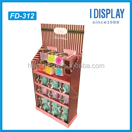 High quality Light Duty corrugated cardboard Display Stand for Mobile accessories retail Display Racks pdq