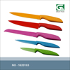 Factory selling 5pcs colorful NON-stick coating knif set