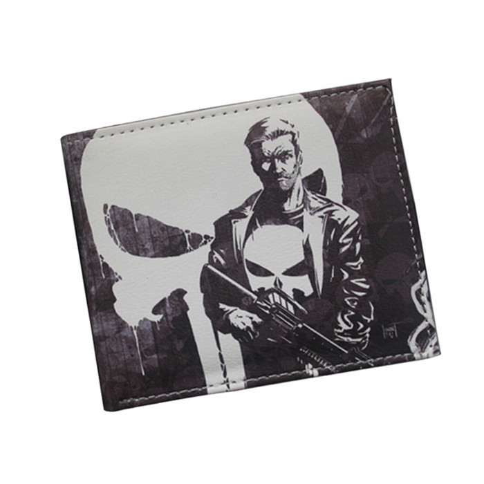 Hot Product Cartoon Wallet The Avengers Superhero Comics Wallet Skull Purse Teenager Money Clips Card Wallet