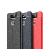 Super Slim Litchi Leather Series High Quality mobile phone back case for ASUS Zenfone 6 ZS630KL cover