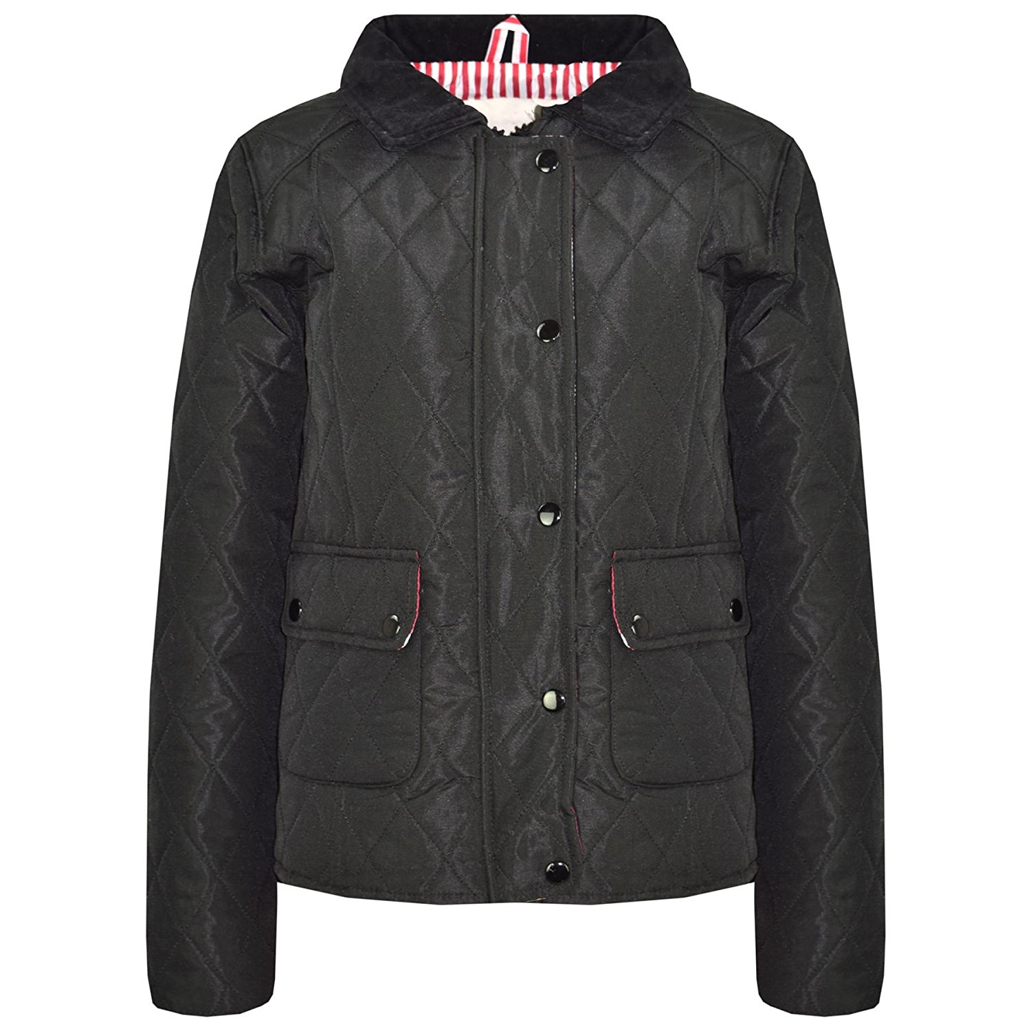 28499a65d Cheap Girls Black Quilted Coat