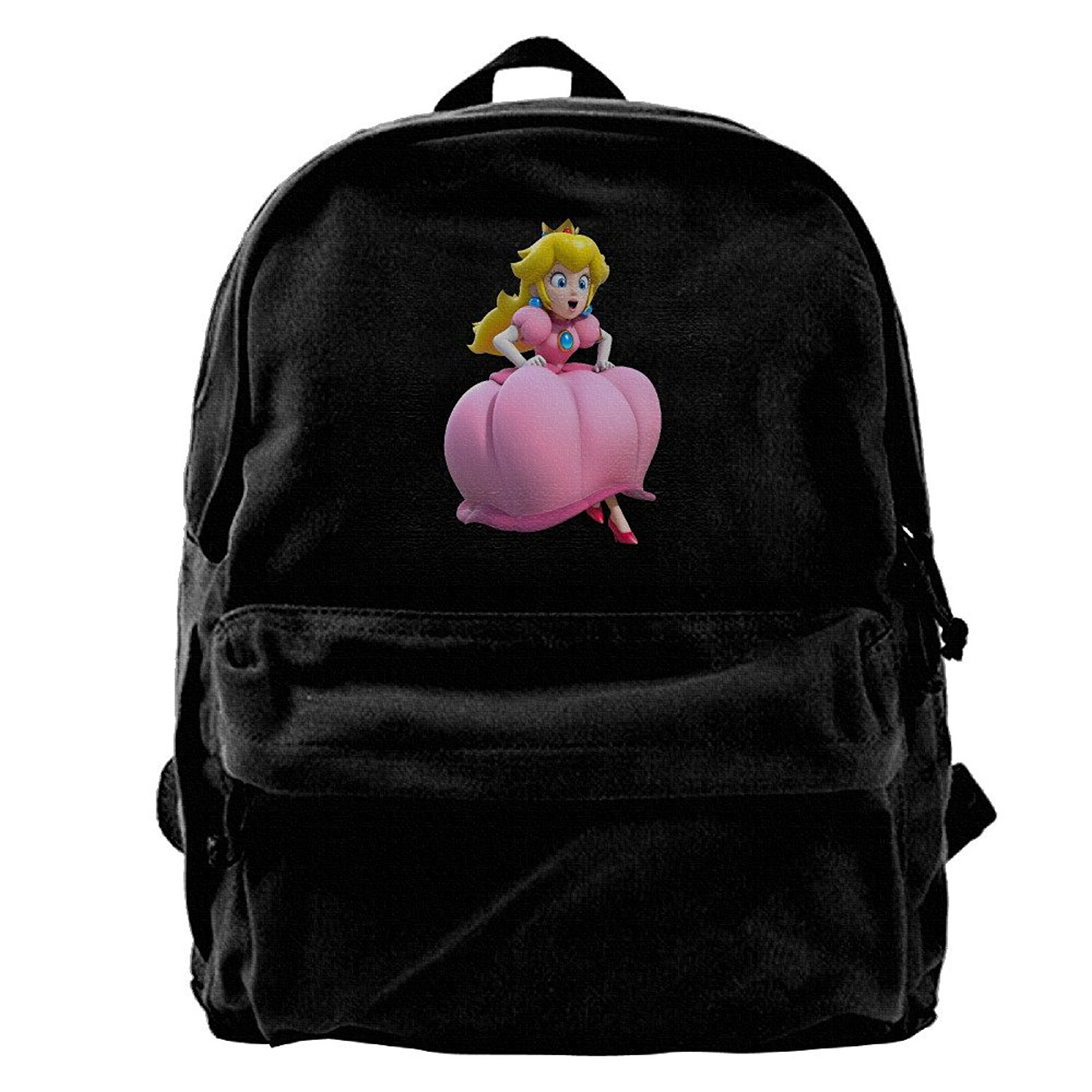 Get Quotations · Princess Peach Artwork Super MarioCanvas Backpack Daypack 98173c5ffee6c