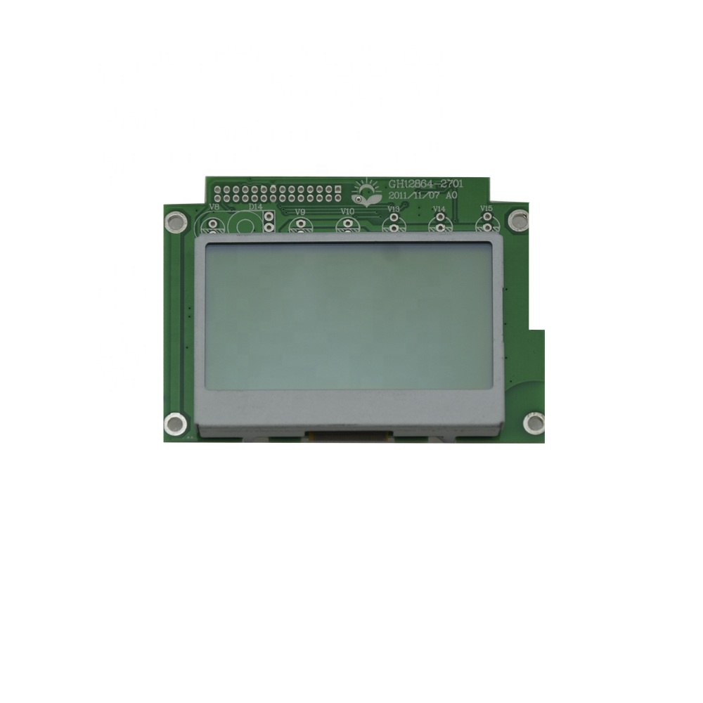 2.7 inch 128*64 Yellow/Grey Background color 17Pins IC ST7565R led display STN <strong>LCD</strong> 5.17