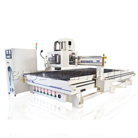 High quality kitchen cabinet door making machines , carousel auto tool changer machine cnc router