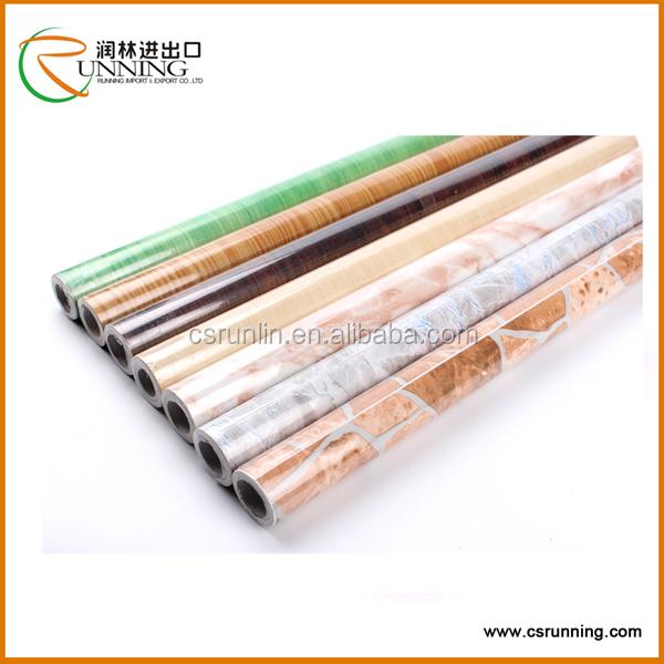 Marble Contact Paper Self Adhesive Wood Grain Vinyl Film