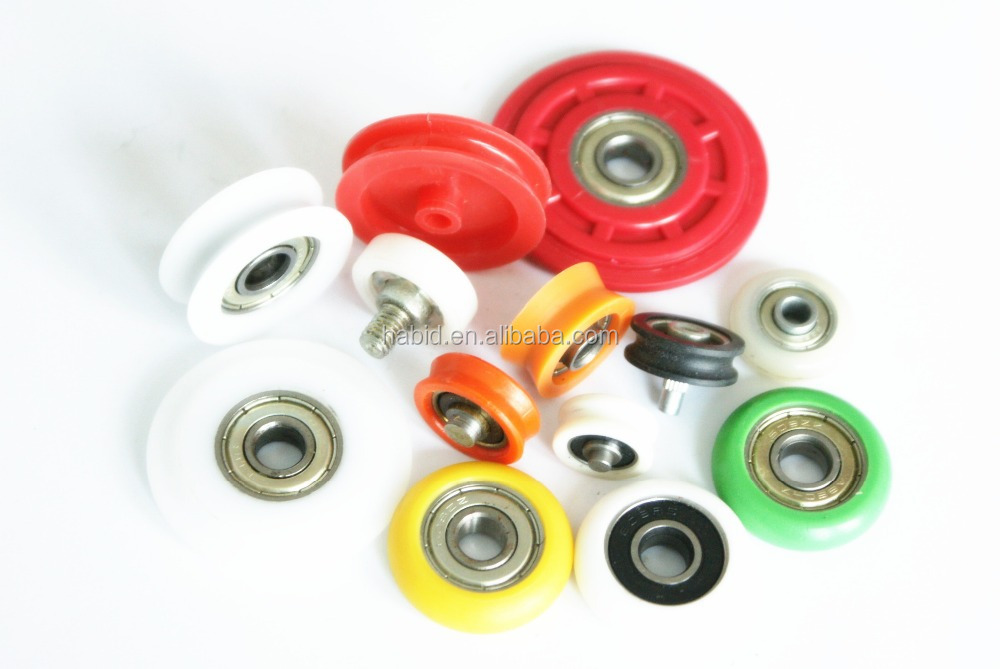 Small Plastic Pulleys : Small plastic pulley wheel with bearing for sliding door