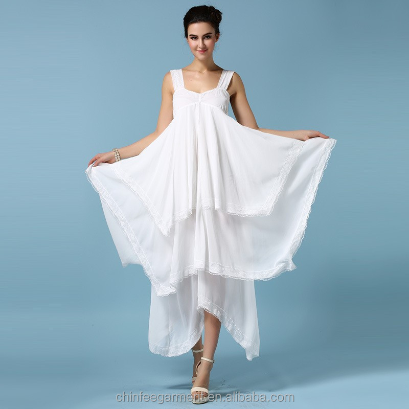 Long Handkerchief Hem Dresses For Women Lady - Buy Handkerchief Hem ...
