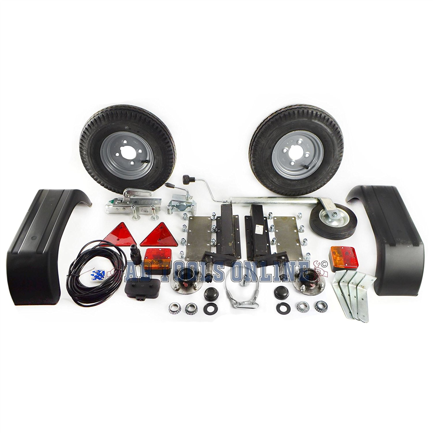 Pair Mini Wheel Trailer Suspension Ext Stub 500KG Units With Extended Stubs