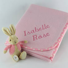 High Quality Lighteight Baby Name Embroidery Blanket