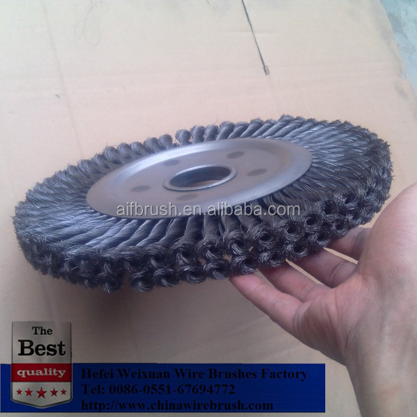 300mm double row twist knot wheel brush for Weld Cleaning