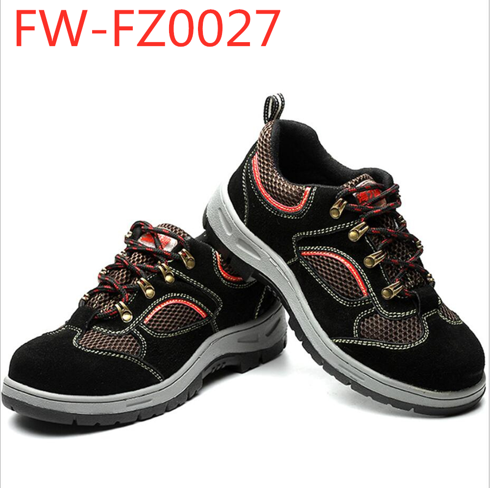 Factory wholesale anti puncture anti stick iron steel toe steel plate safety shoes FW-FZ0027