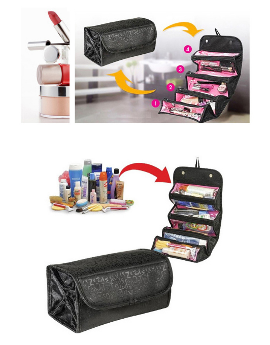Customized Cosmetic Toiletry Organized bag with compartments