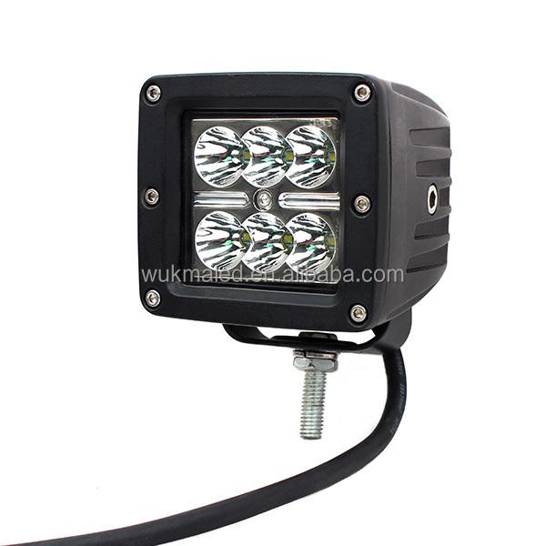 18w Led Cube Work Lights Spot 6000k Lamp Bike Motorcycle Square