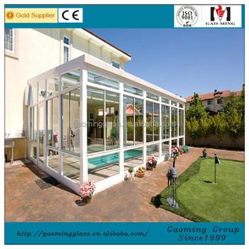 Garden Flat Roof Glass House /Sun Room /Winter Garden Design 1733