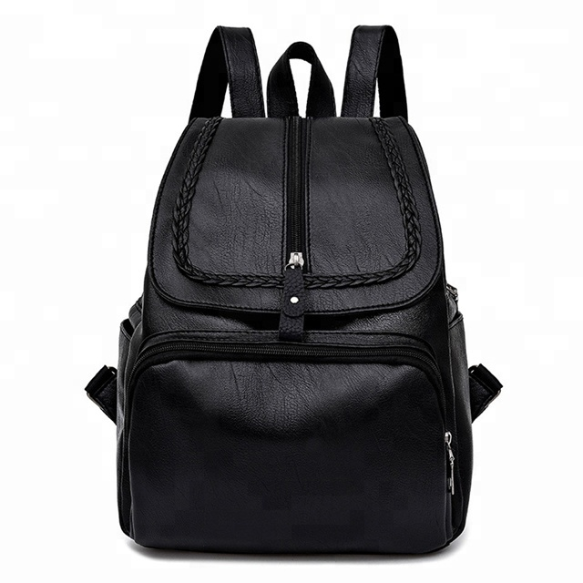 hot style pu leather fashion practical girls college backpack bag