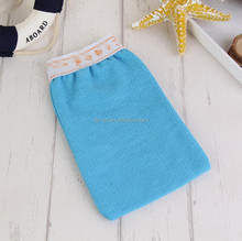 Bath Non Finger Body Scrub Bath Blue Shower Mitt