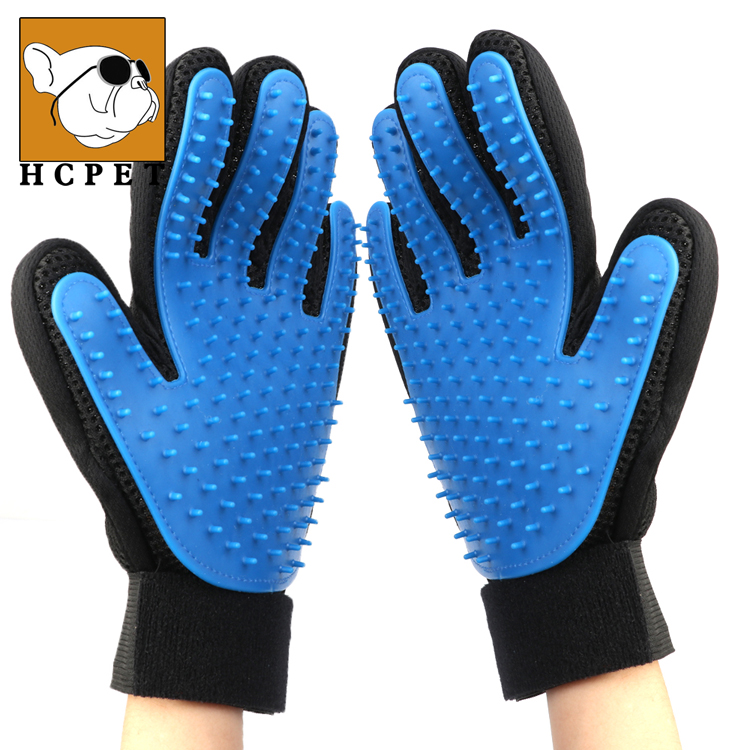 Five Finger <strong>Pet</strong> Grooming Gloves Silicone Massage Hair Remover Dog Cat Cleaning Brush Magic Glove Sales of Manufacturer