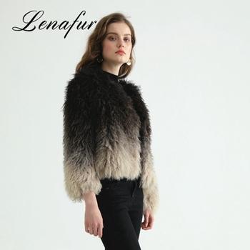 30595591585b Women Winter Warm Woolen Jacket Sheep Wool Fur Coat For Lady ...
