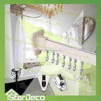 Z198 Wholesale Aluminum Adjustable Shower Curtain Rod/U shaped curtain tracks