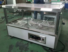 Stainless steel bain marie, catering equipment, glass top bain marie