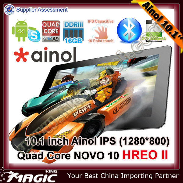 Top sale! Ainol Hero II brand 1.5GHz china quad core tablet pc