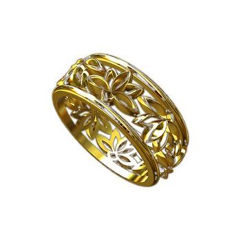 Solid Sacred Buddhist Symbol Lotus Flower Ring Gold Buy Ring