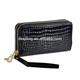 Classic Black Wallet Fashion Crocodile Print Clutch Handbags Two Double Zipper Purse For Phones Multifunctional wallet bag