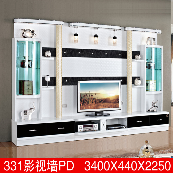 Simple design wall tv cabinet design 331a laptop wood for Tv cabinet designs for hall