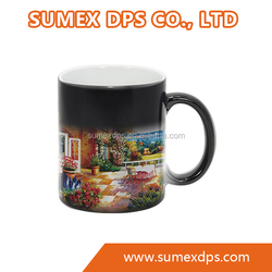 Sublimation Ceramic heat sensitive color Changing Mug hot water color changing mug