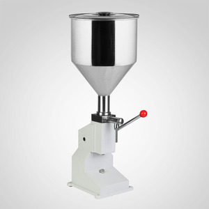 Liquid Filling Machine Manual 5ml to 50ml Liquid Filler Food Grade 40 Bottles per Minute Drink Water Oil A03 No Electric