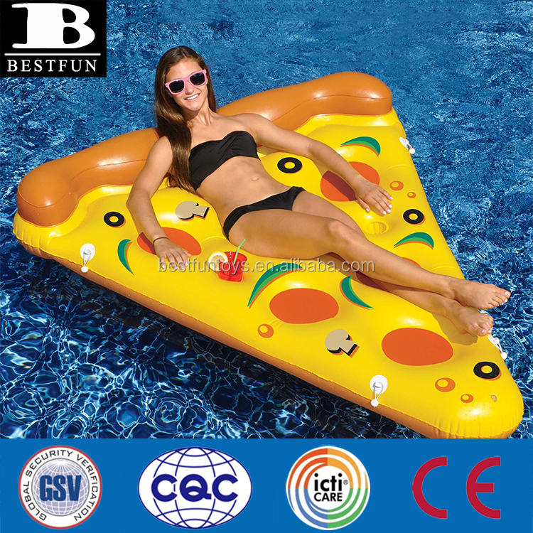 giant inflatable pizza slice durable plastic inflatable pizza raft folding inflatable pizza water swimming floating pool islands