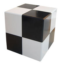 black and white european style stone furniture cube ottoman