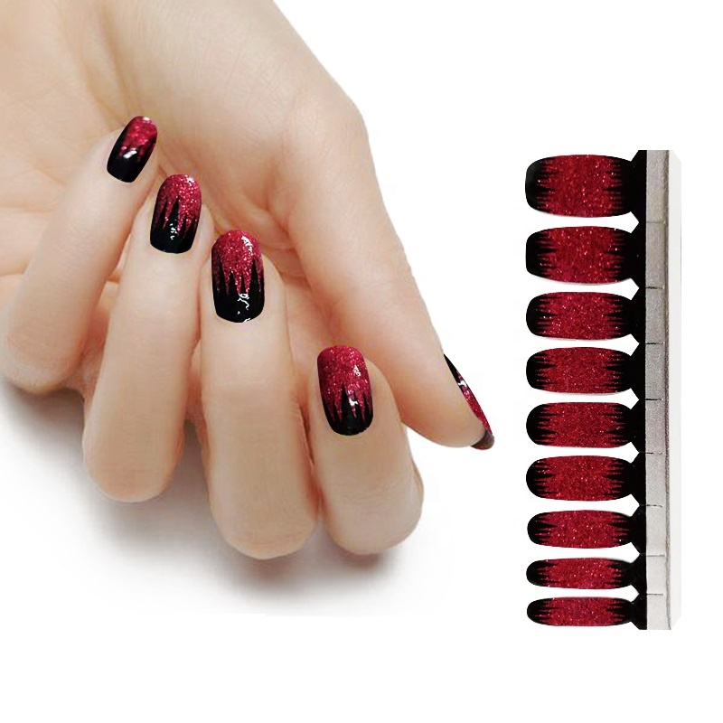 water proof 3d art halloween nail polish sticker
