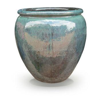 Glazed Ceramic Planter Indoor Or Ourdoor Decoration - Buy Glazed ...
