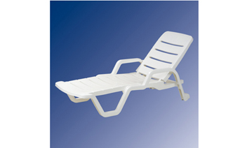Factory Direct Selling Beach Chair Plastic Stackable Chaise Lounge