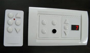 4 Module Anchor Roma Switch Board With Remote 3 Lights