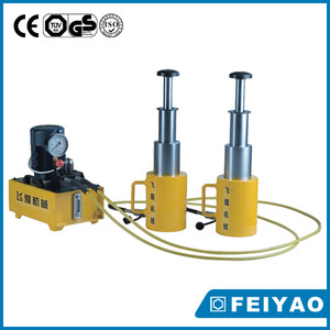 Long stroke 3-stage hydraulic cylinder for crane