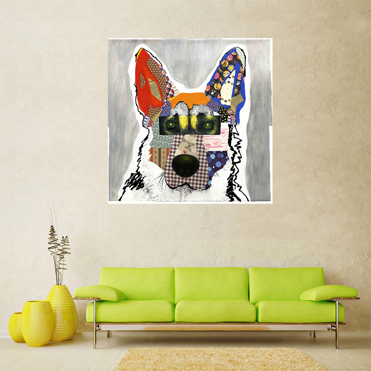 Animal oil painting dog head picture home decoration no frame Art Print Canvas Printing Dog Wall Art